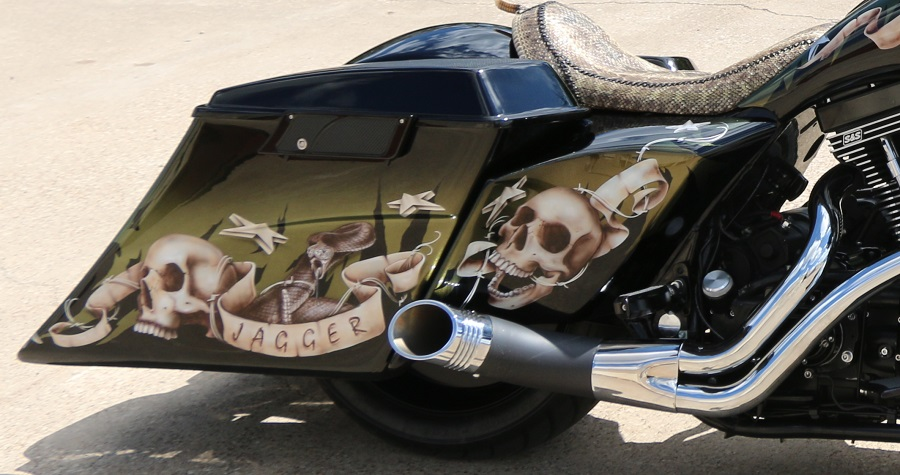 Custom Harley Bagger Extended Side Covers | Pickard USA