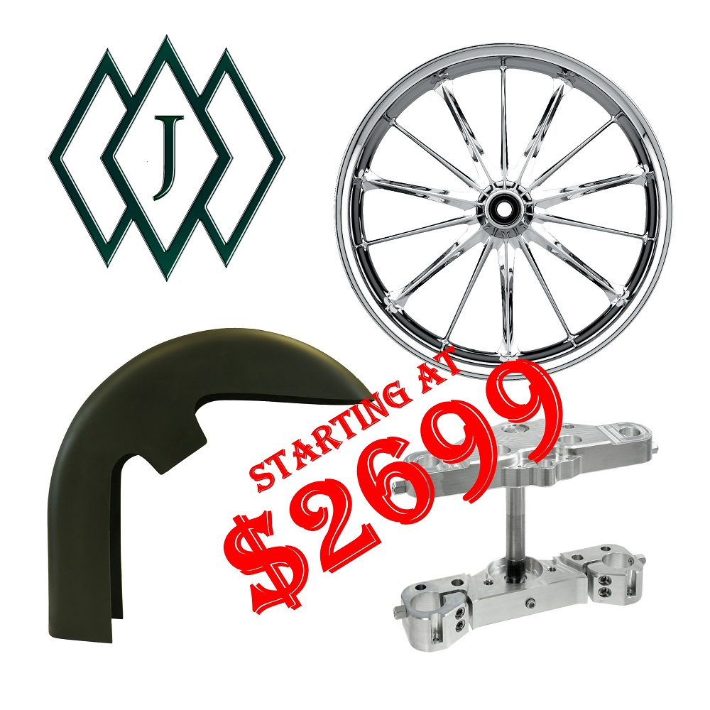 Harley 23 Inch Front End Package Kit Jade Wheel | Pickard USA